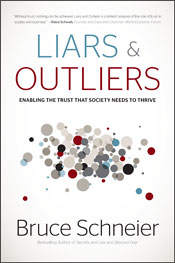 Bruce Schneier, Liars and Outliers, front cover