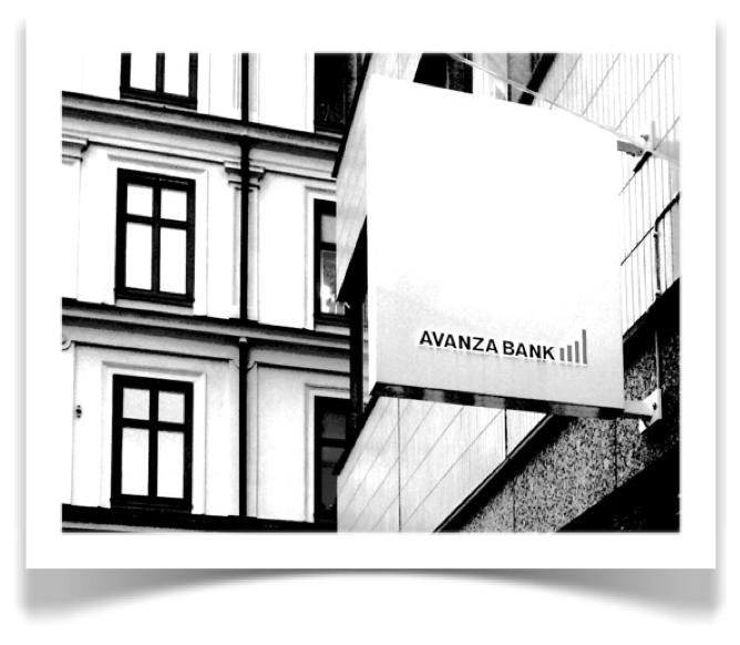 Avanza Bank skylt